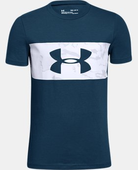 Boys' UA Branded Camo T-Shirt  3  Colors Available $25