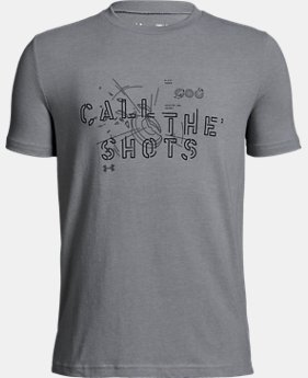 New Arrival Boys' UA Call the Shots T-Shirt  2  Colors Available $20