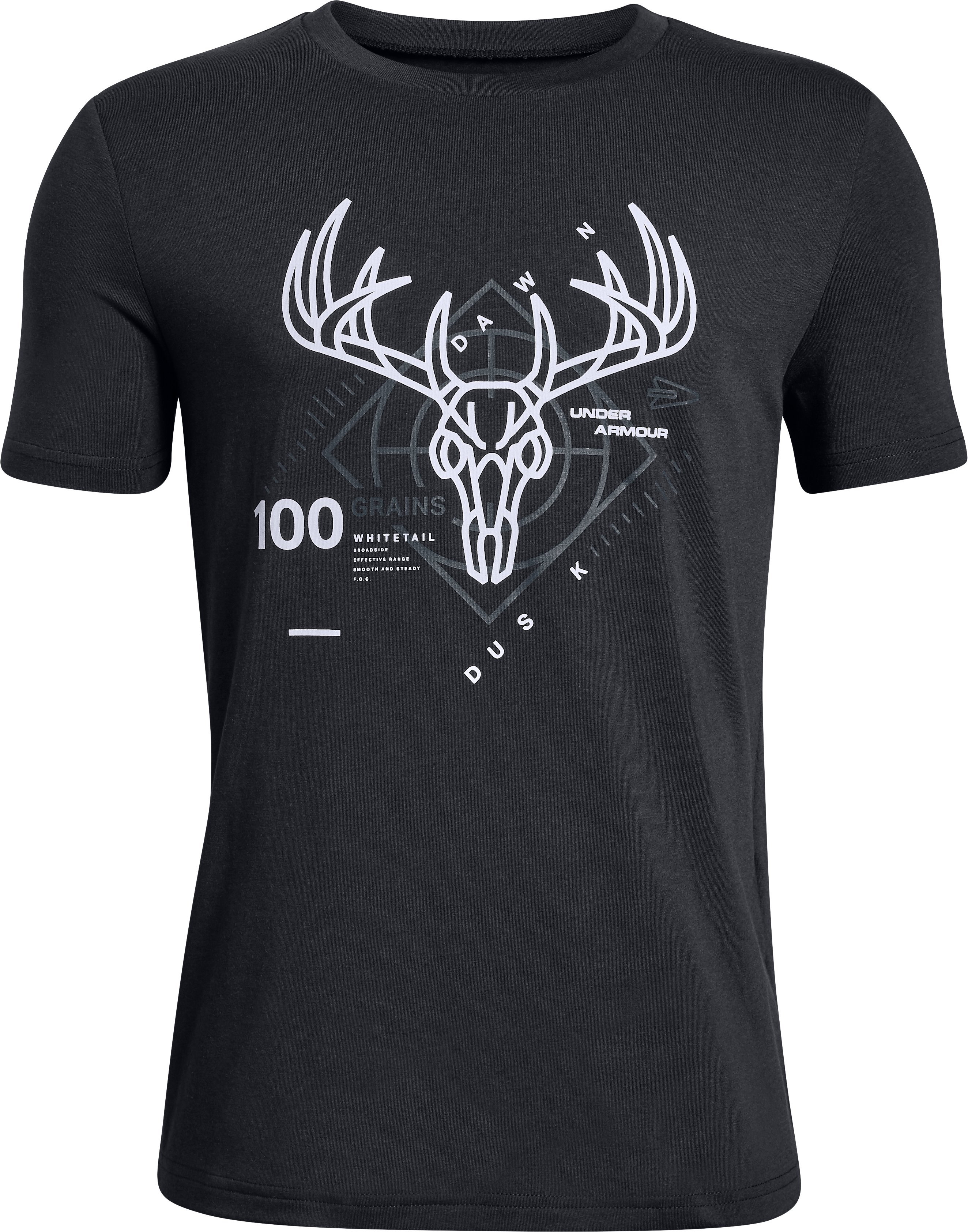 UA Heads Up Whitetail Tee, Black , zoomed