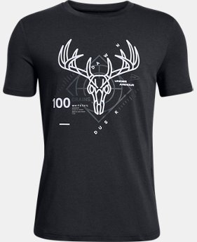 New Arrival Boys' UA Heads Up Whitetail T-Shirt  2  Colors Available $20