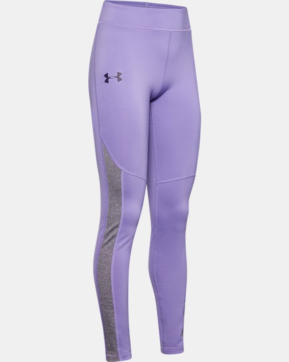 Girls' ColdGear® Leggings, Purple, pdpMainDesktop image number 0