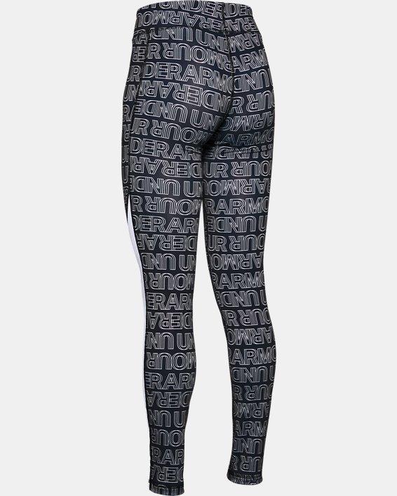Girls' ColdGear® Printed Leggings, Black, pdpMainDesktop image number 1