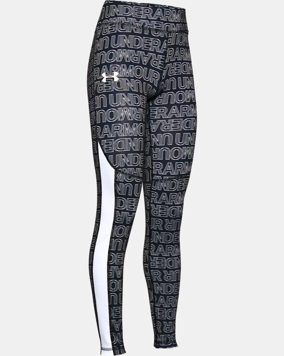 Girls' ColdGear® Printed Leggings, Black, pdpMainDesktop image number 0