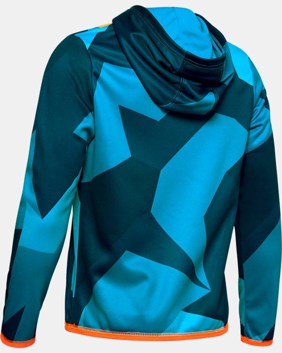 Boys' Armour Fleece® Big Logo Printed Hoodie, Blue, pdpMainDesktop image number 1