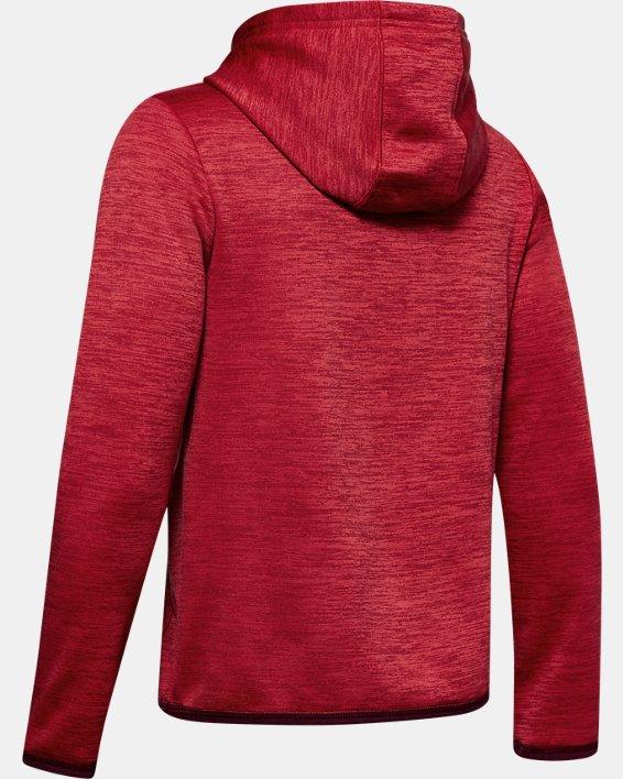 Boys' Armour Fleece® Big Logo Hoodie, Red, pdpMainDesktop image number 1