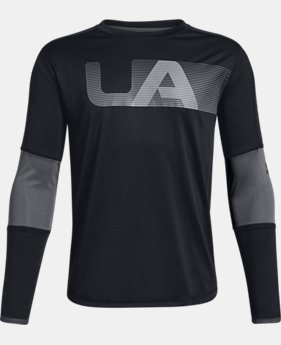 Boys' UA Tech™ Long Sleeve  4  Colors Available $30