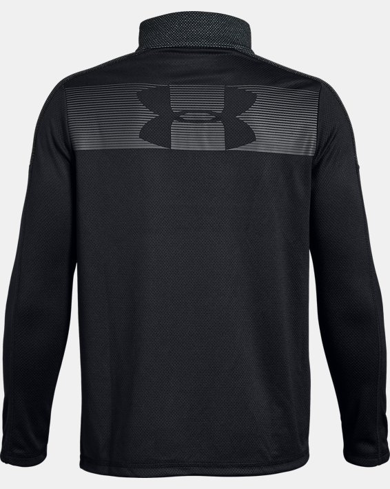 Boys' UA Tech™ ¼ Zip, Black, pdpMainDesktop image number 1