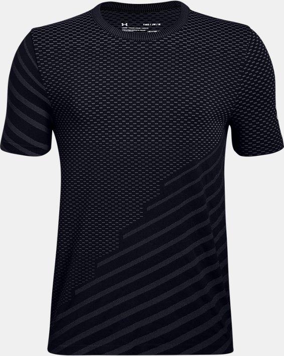 T-shirt UA Seamless pour garçon, Black, pdpMainDesktop image number 0