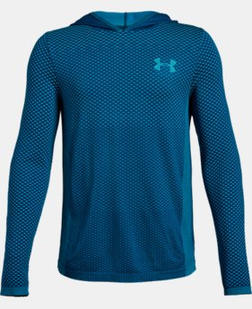New Arrival  Boys' UA Seamless Hoodie  2  Colors Available $40
