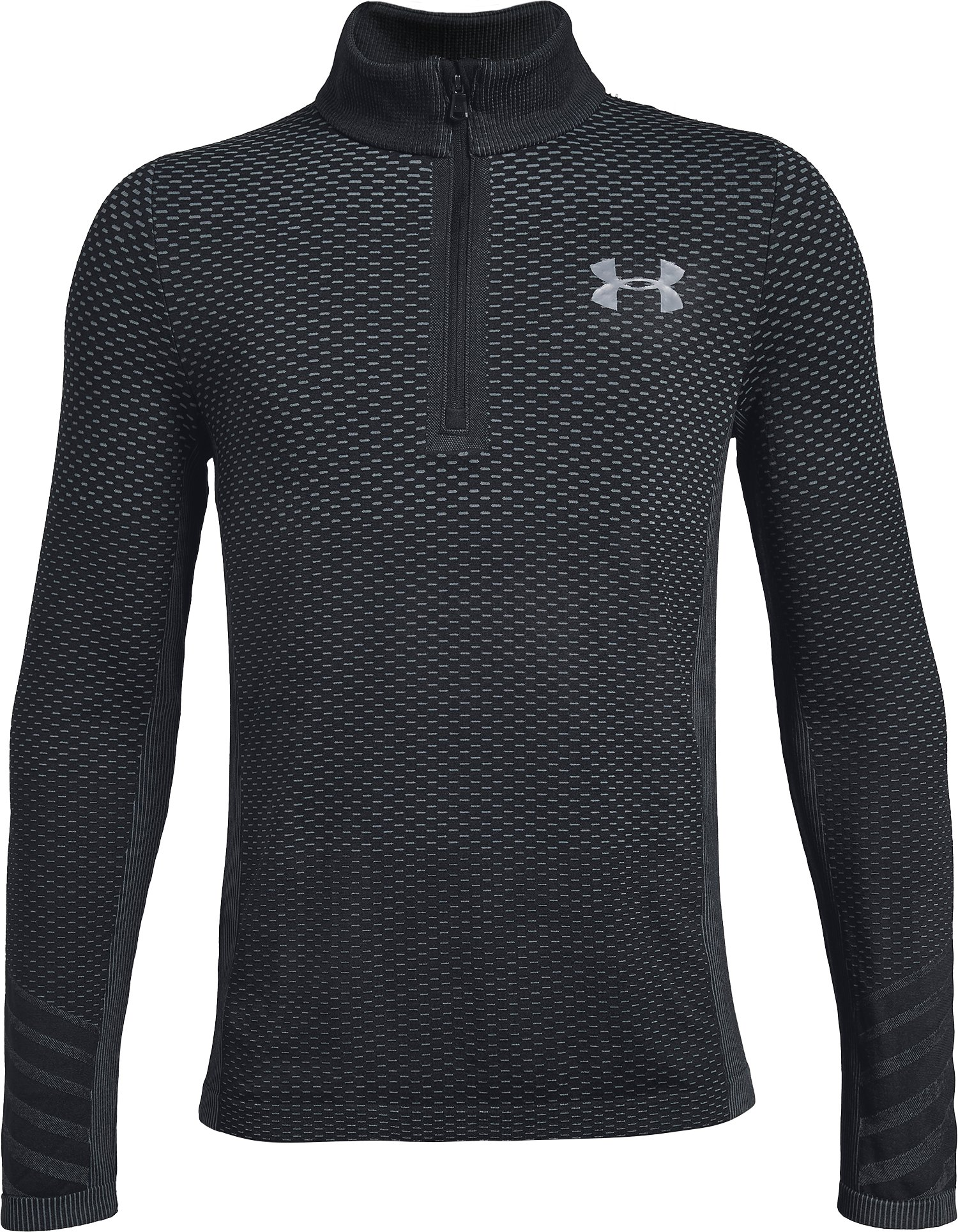 Boys' UA Seamless ¼ Zip, Black ,