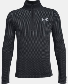 Boys' UA Seamless ¼ Zip  4  Colors Available $35