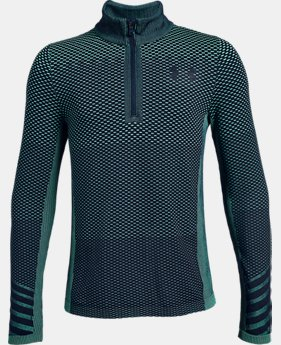 Boys' UA Seamless ¼ Zip  2  Colors Available $35