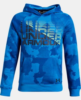 Boys' UA Rival Fleece Wordmark Hoodie LIMITED TIME ONLY 3  Colors Available $33.75
