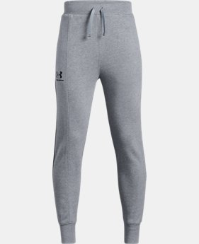 Boys' UA Rival Blocked Joggers LIMITED TIME ONLY 5  Colors Available $31.5