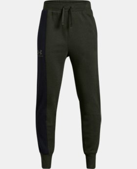 New Arrival Boys' UA Rival Blocked Joggers  1  Color Available $40