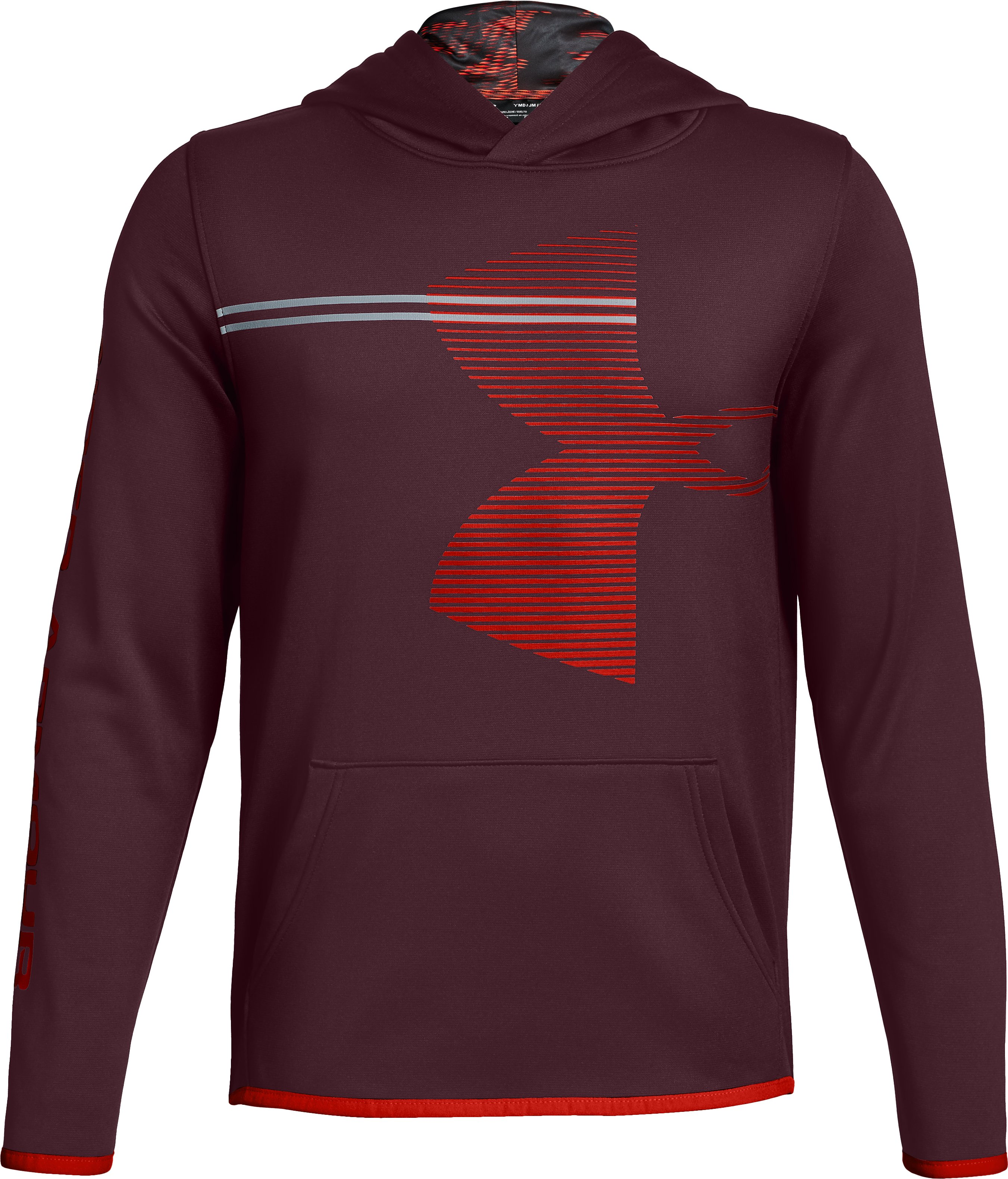 Boys' Armour Fleece® Hoodie, DARK MAROON,