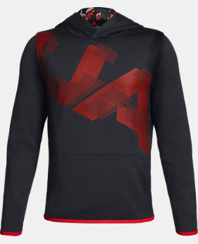 New Arrival Boys' Armour Fleece® Printed Hoodie FREE U.S. SHIPPING 2  Colors Available $40