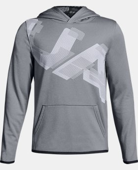 Boys' Armour Fleece® Highlight Printed Hoodie  2  Colors Available $50