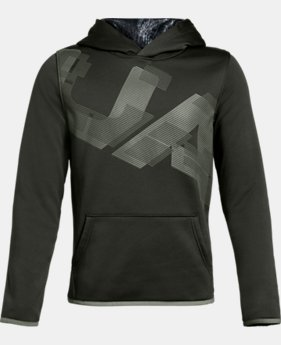 Boys' Armour Fleece® Highlight Printed Hoodie LIMITED TIME ONLY 1  Color Available $30