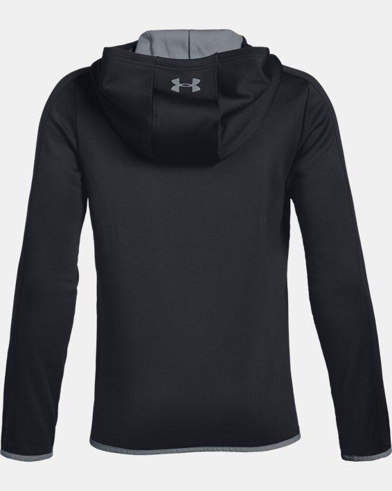 Boys' Armour Fleece® Full Zip, Black, pdpMainDesktop image number 1