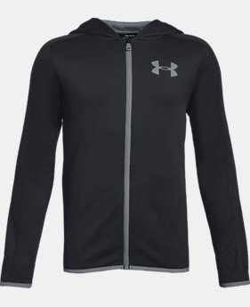 New to Outlet Boys' Armour Fleece® Full Zip LIMITED TIME ONLY 3  Colors Available $33.75