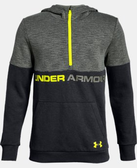 New Arrival Boys' UA Double Knit ½ Zip Hoodie  1  Color Available $50