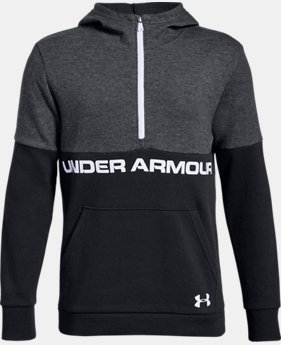 Best Seller Boys' UA Double Knit ½ Zip Hoodie  3  Colors Available $50