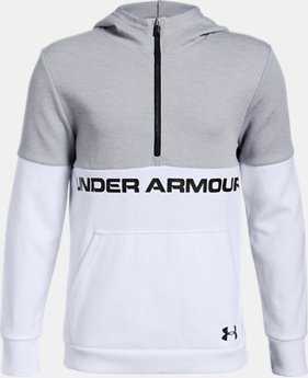 Boys' UA Double Knit ½ Zip Hoodie  2  Colors Available $60