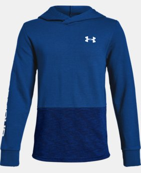 Boys' UA Double Knit Hoodie  2  Colors Available $45