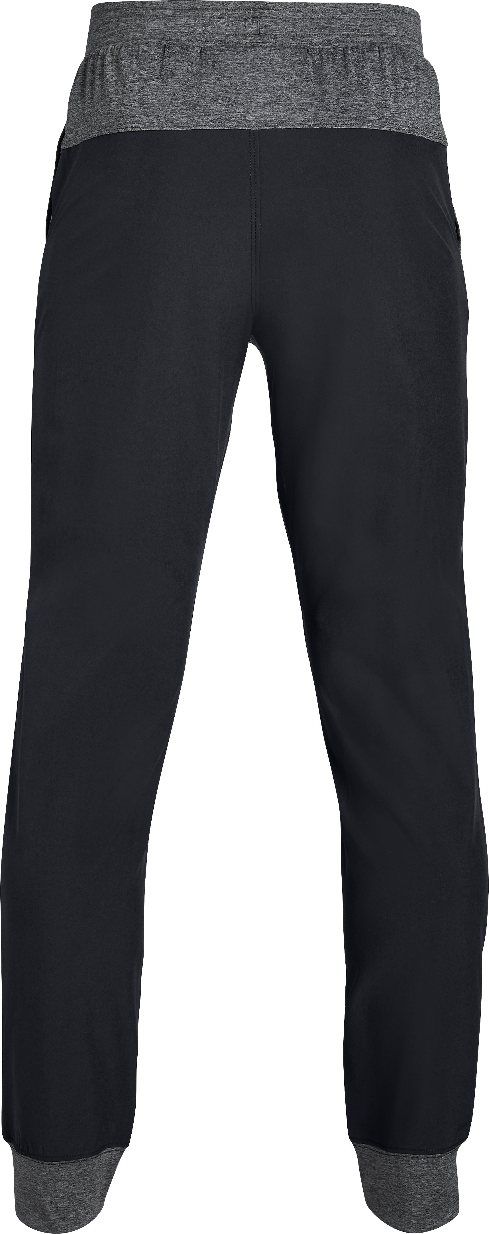 Boys' UA Woven Warm Up Joggers, Black ,