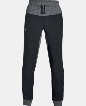 Boys' UA Woven Warm-Up Joggers  2  Colors Available $50