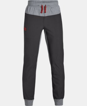 New Arrival  Boys' UA Woven Warm Up Joggers  1  Color Available $50