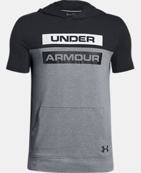 New Arrival Boys' UA Sportstyle Short Sleeve Hoodie  4  Colors Available $35
