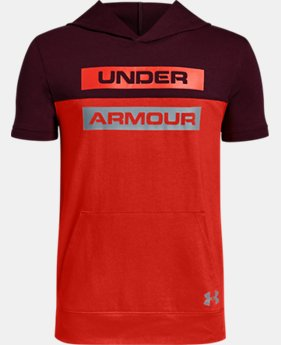 New Arrival Boys' UA Sportstyle Short Sleeve Hoodie FREE U.S. SHIPPING 4  Colors Available $35