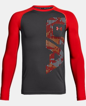 New Arrival Boys' HeatGear® Armour Long Sleeve FREE U.S. SHIPPING 2  Colors Available $29.99