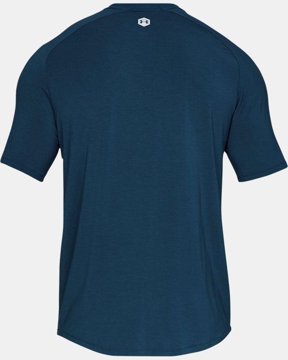 Men's UA RECOVER™  Sleepwear Ultra Comfort  Short Sleeve, Blue, pdpMainDesktop image number 5
