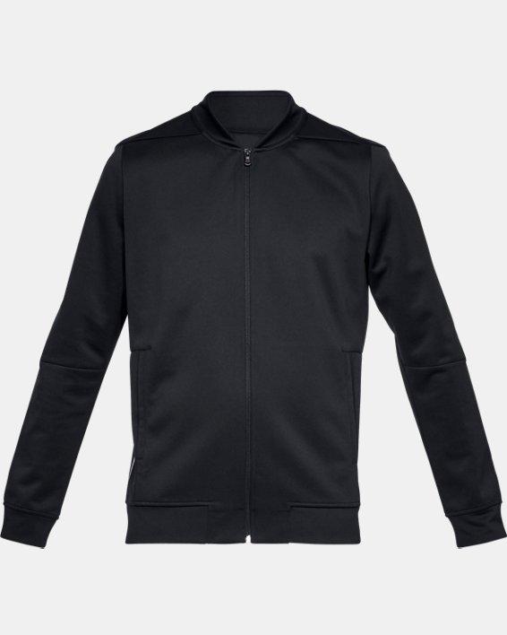 Men's UA RECOVER™ Track Suit Jacket, Black, pdpMainDesktop image number 3