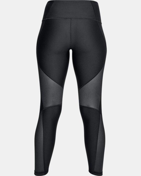 Women's HeatGear® Armour Mesh Ankle Crop, Black, pdpMainDesktop image number 4
