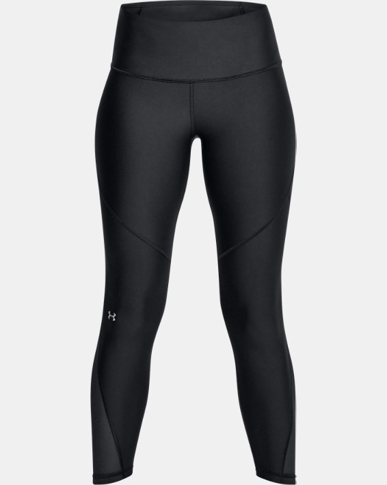 Women's HeatGear® Armour Mesh Ankle Crop, Black, pdpMainDesktop image number 3