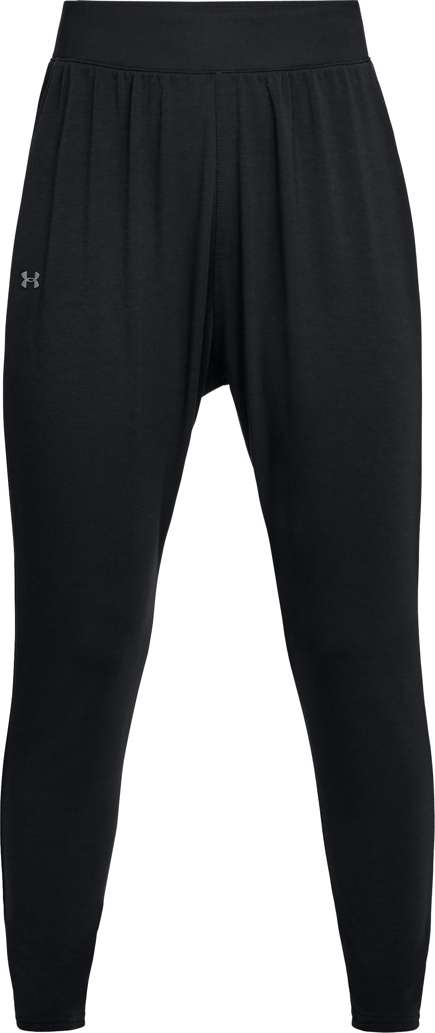 Women's UA Modal Terry Tapered Slouch Pants, Black ,