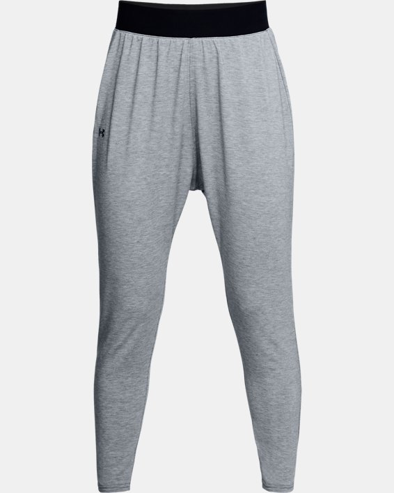 Women's UA Modal Terry Tapered Slouch Pants, Gray, pdpMainDesktop image number 3