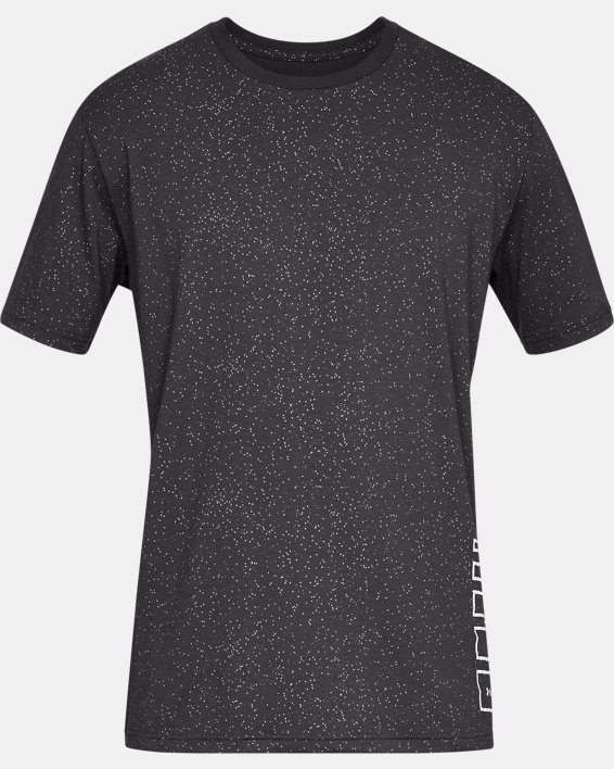 Men's UA Speckle Print Short Sleeve T-Shirt, Gray, pdpMainDesktop image number 4