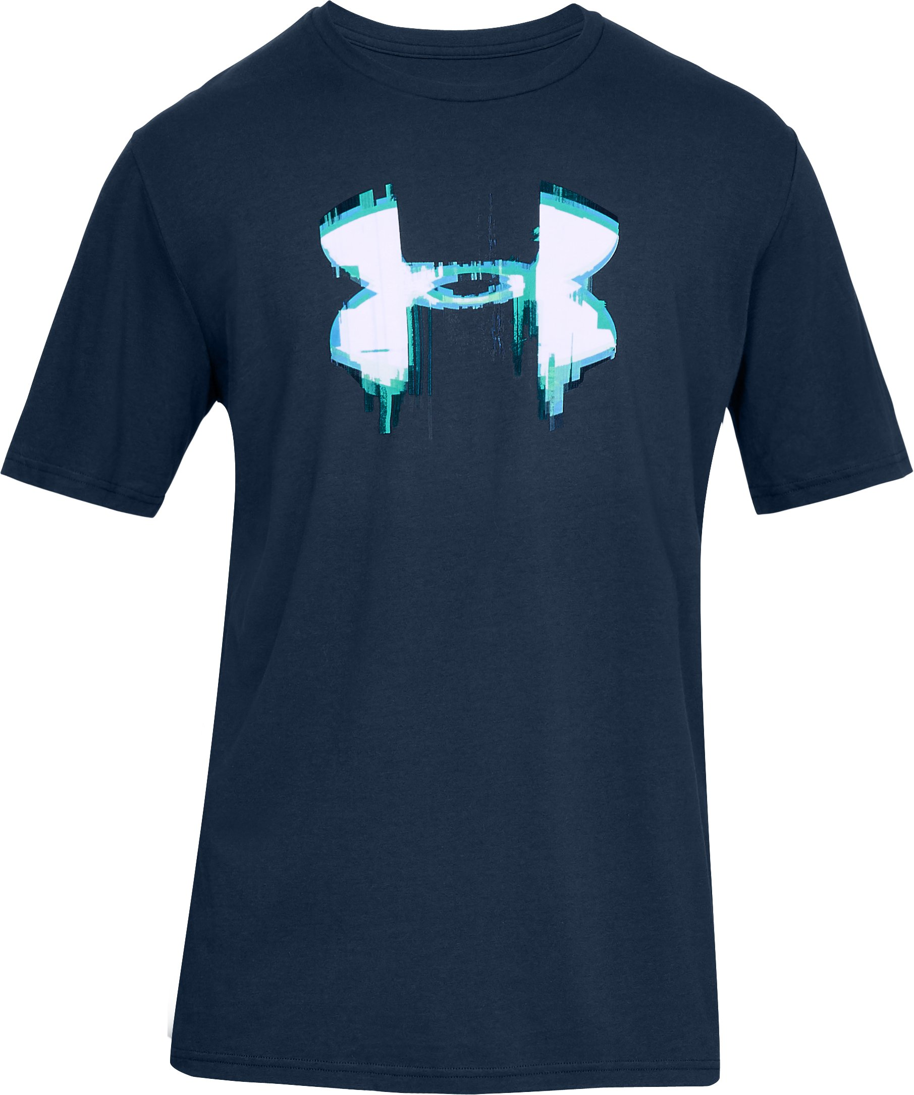 Men's UA Glitch Big Logo Short Sleeve Shirt, Academy,