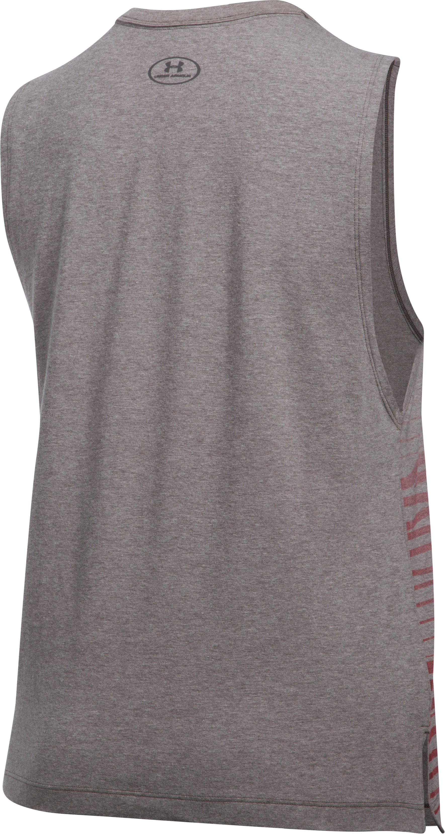 Women's Baywatch LG Stand Muscle T, Carbon Heather