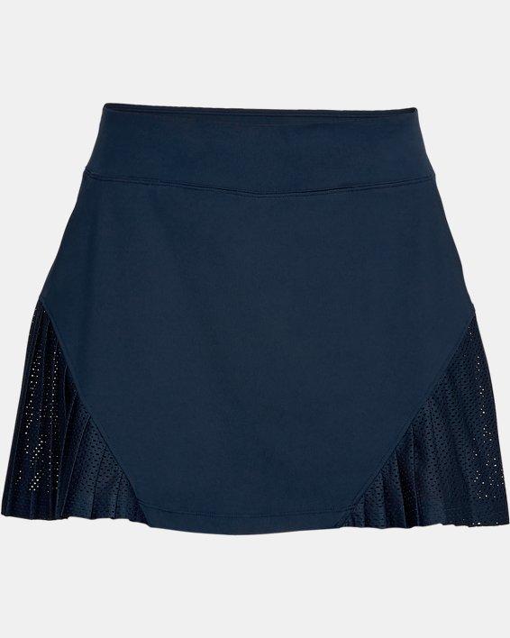 Women's UA Links Knit Mesh Skort, Navy, pdpMainDesktop image number 4