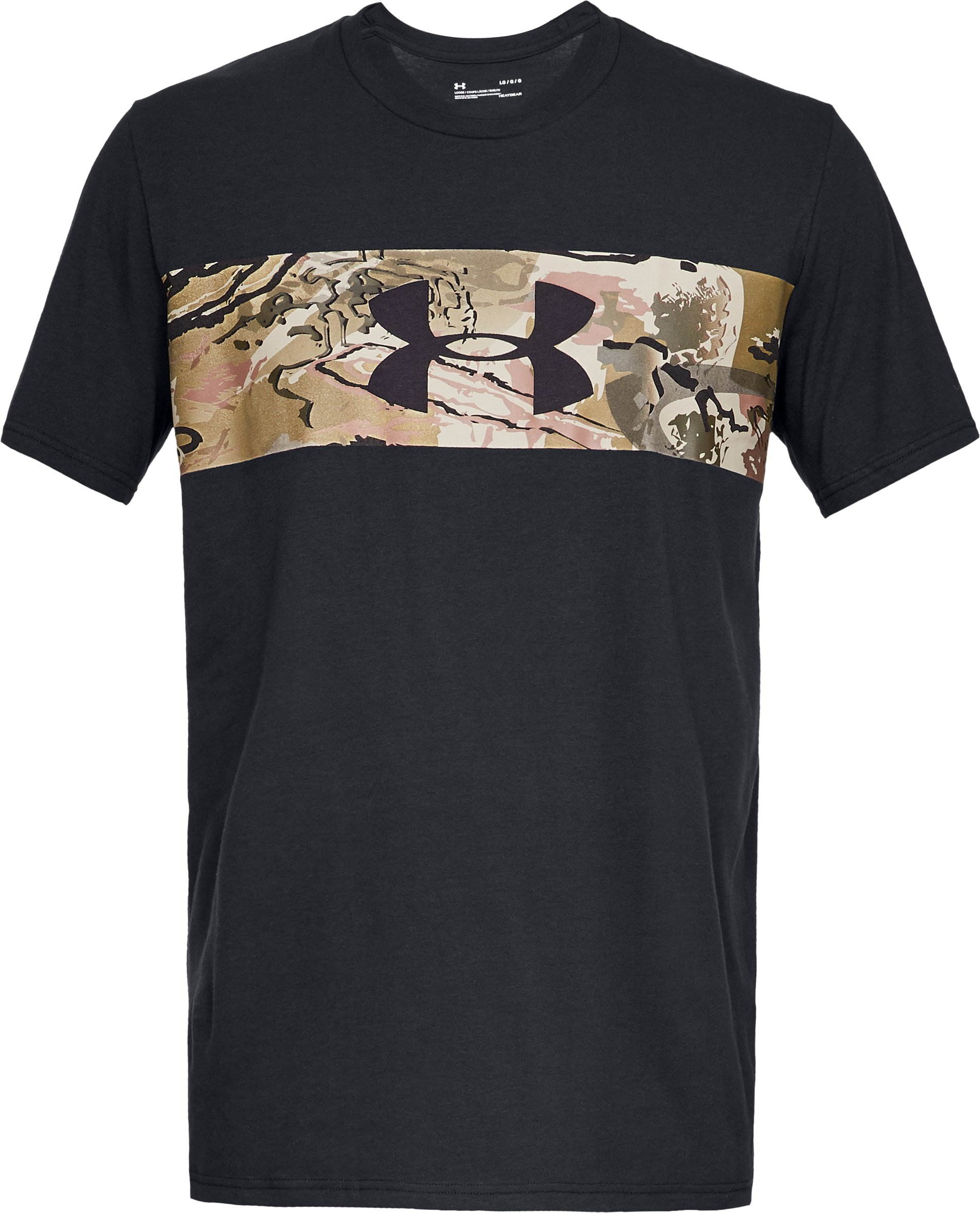 Men's UA Banded Camo T-Shirt, Black ,