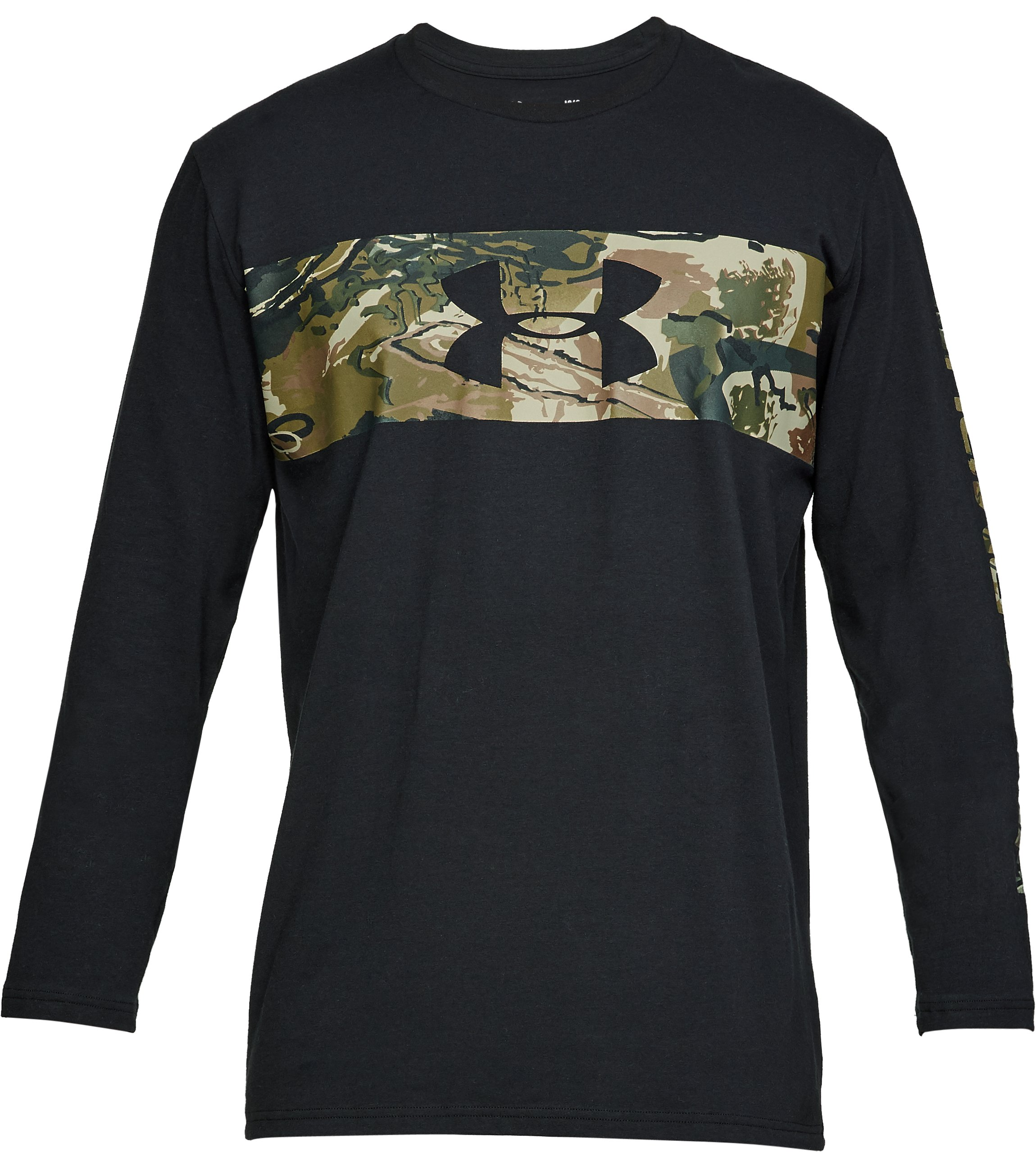 Men's UA Banded Camo Long Sleeve, Black ,