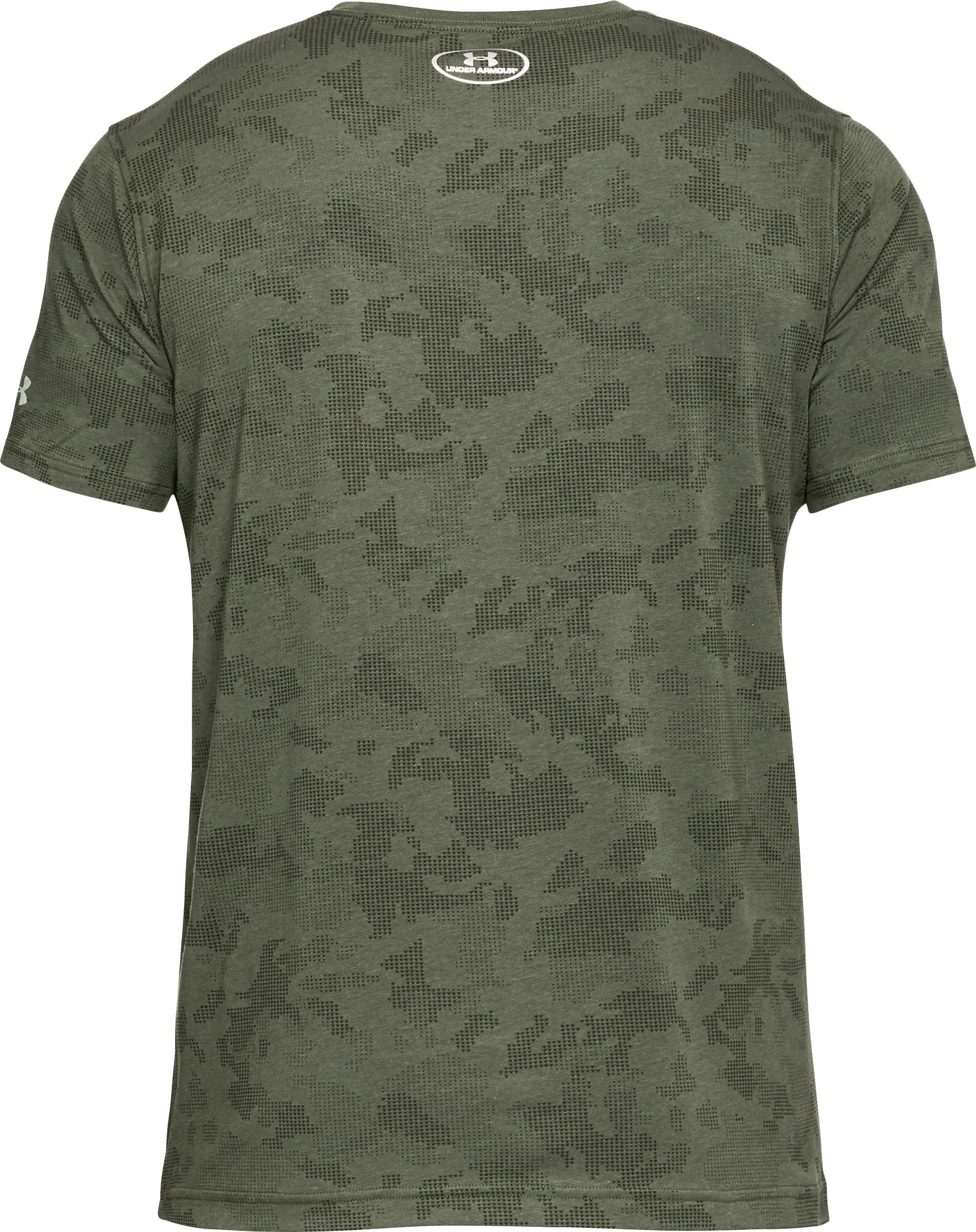 Men's UA x Project Rock Bull Shield T-Shirt, DOWNTOWN GREEN,