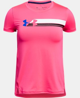 New Arrival Girls' HeatGear® Armour Short Sleeve  1 Color $25