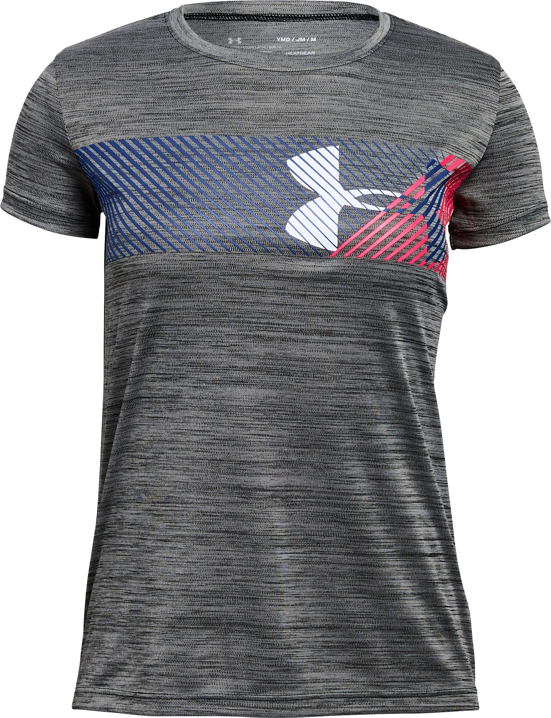 Girls' UA Hybrid Big Logo T-Shirt 4 Colors $15.00